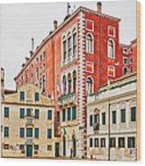 Ancient Venetian Houses Wood Print