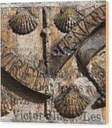 Ancient Wall With Hugo Wood Print