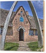 Ancient Whale's Jawbones Gate Wood Print