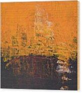 Ancient Wisdom Orange Brown Abstract By Chakramoon Wood Print