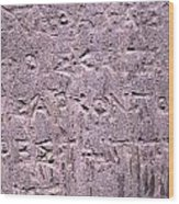 Ancient Writings Wood Print