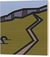 And The Path Rises Steeply To The Crag Wood Print by Kenneth North