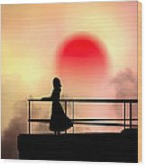 And The Sun Also Rises Wood Print by Bob Orsillo