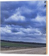 And The Thunder Rolls Wood Print by Jan Amiss Photography