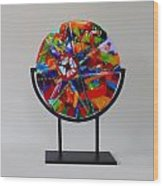 And The Wheel Goes Round And Round Wood Print by Mark Lubich