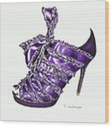 ...and Toes To Match - Purple Wood Print