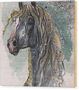 Andalusian Horse 2014 11 11 Wood Print