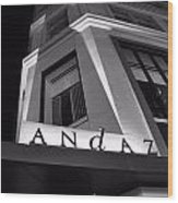 Andaz Hotel On 5th Avenue Wood Print