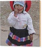 Andean Chiquita Wood Print