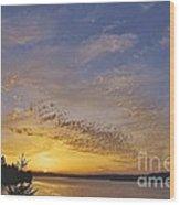 Anderson Island Sunset Wood Print