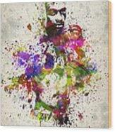 Anderson Silva Wood Print
