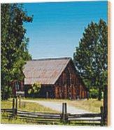 Anderson Valley Barn Wood Print