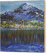 Andes Mountain Wood Print