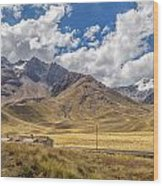 Andes Mountains - Peru Wood Print