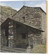Andorra. Canillo. Church Of Sant Joan Wood Print