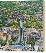 Andorra La Vella City Wood Print
