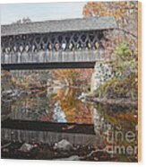 Andover Covered Bridge Wood Print