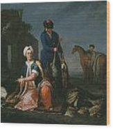 Andrea Soldi Portrait Of Henry Lannoy Hunter In Oriental Dress Wood Print