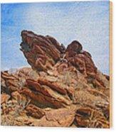 Andreas Canyon Wood Print