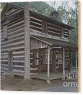 Andrew Logan Log Cabin Ninety Six National Historic Site Wood Print