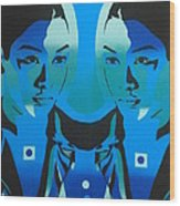 Android Twins Wood Print