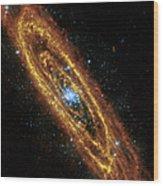 Andromeda Galaxy Wood Print by Adam Romanowicz