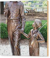Andy And Opie Statue Nc Wood Print