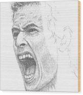 Andy Murray Sketch Wood Print