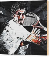 Andy Murray Wood Print by The DigArtisT