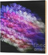 Anemone Abstract Wood Print