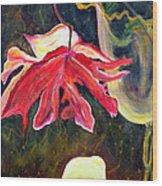 Anemone Me Wood Print by Jolanta Anna Karolska