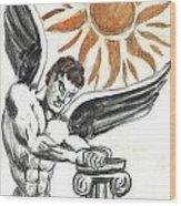 Ange Du Soliel Wood Print