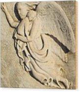 Angel And Infant Wood Print