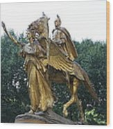 Angel And Tecumseh Sherman Wood Print