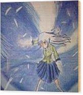 Angel Beats Wood Print