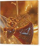 Angel Blessing Wood Print