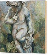 Angel-cherub Wood Print by Eve Riser Roberts