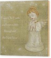 Angel Christmas Card Wood Print