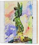 Angel Colors Wood Print