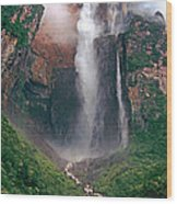 Angel Falls In Venezuela Wood Print