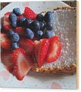 Angel Food And The Berries Wood Print