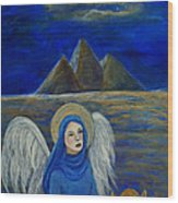 Angel From Eygpt Called Lapis Lazueli Wood Print