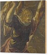 Angel From The Annunciation To The Virgin Wood Print