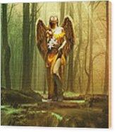 Angel Gabriel Wood Print
