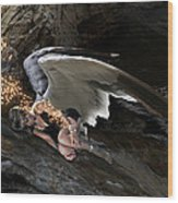 Angel- Give Your Worries To The Father Wood Print