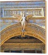Angel In Drexel Wood Print