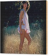 Angel In The Grasses 3 Wood Print