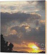 Angel In The Sunrise Wood Print