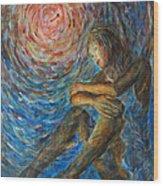 Angel Moon I Wood Print