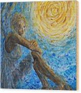 Angel Moon II Wood Print